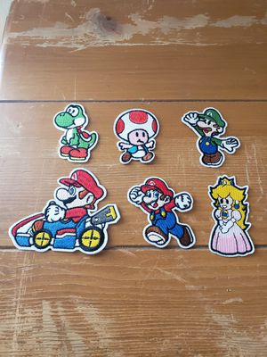 Mario Bros 6 Patch lot new Iron on for Sale in Los Angeles, CA