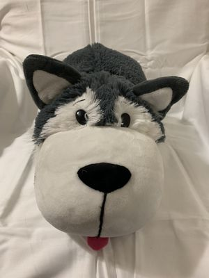 "Flip A Zoo Asher Husky And Poppi Polar Bear 2-in-1 Stuffed Animal 16""  CLEAN for Sale in Milton, FL"