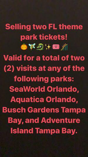 Orlando/Tampa park tickets for Sale in Pinecrest, FL