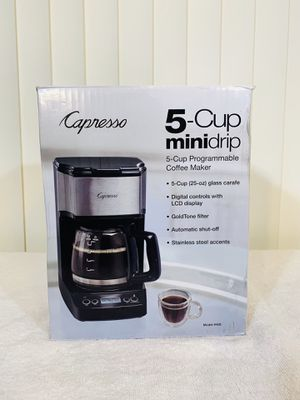 Capresso 426.05 5-Cup MINI Drip Coffee Maker, Black and Stainless Steel - Awesome 👌 for Sale in Boynton Beach, FL