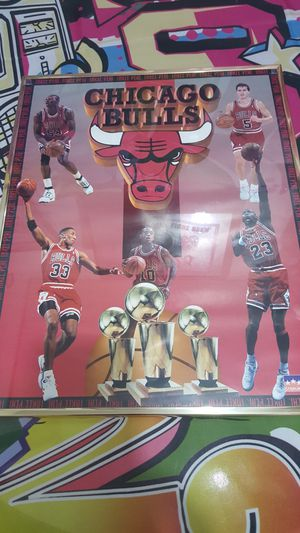 Vintage Chicago Bulls poster for Sale in Woodway, WA