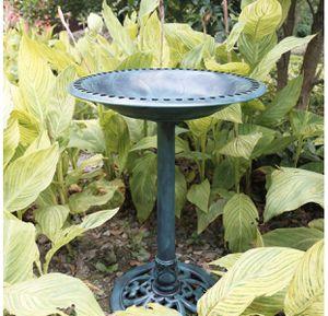 Antique Green pedestal bird bath feeder outdoor garden fountain decor for Sale in Mountain View, CA