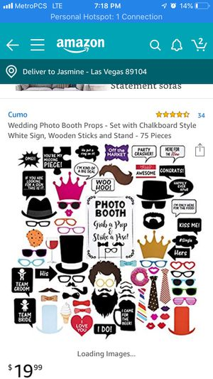 Photo booth props for Sale in Las Vegas, NV