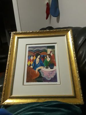 Collectors !! Tarkay Intimate Moments Blue Kettle Signed & Numbered and Framed for Sale in Detroit, MI