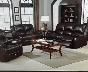 Leather Reclining Sofa Love for Sale in Antioch, CA