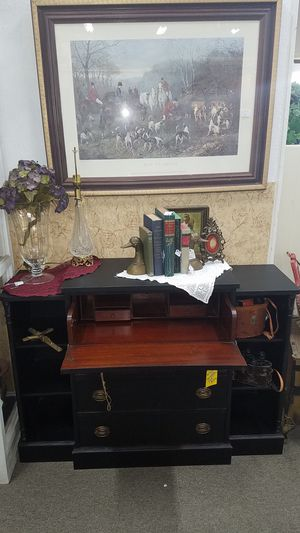 Mahogany secretary desk entry table sofa dresser for Sale in San Marcos, CA