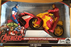 Iron Man & Captain America with defender cycles. for Sale in Canonsburg, PA