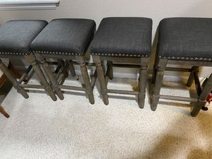 Modern farmhouse bar stools - set of 4 for Sale in Westminster, CO