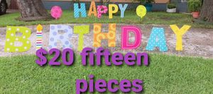 Huge birthday letters for Sale in Garland, TX