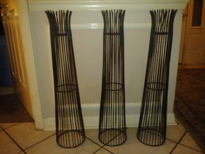 2 1/2 foot tall iron candle holder for Sale in Orlando, FL