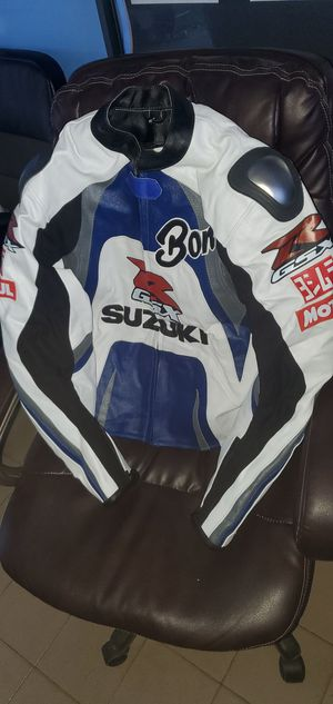 SUZUKI GSXR Racing Mens Leather Jacket Motorcycle Biker Leather Jacket for Sale in Miami, FL