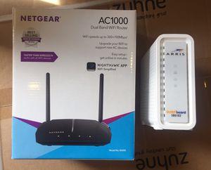 Netgear Wireless Router + ARRRIS Modem for Sale in Queen Creek, AZ