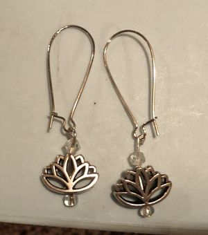Lotus Silver Earrings for Sale in Baltimore, MD