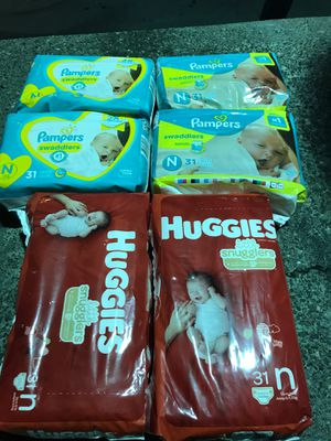 Huggies diapers Pampers diapers newborn for Sale in Seattle, WA