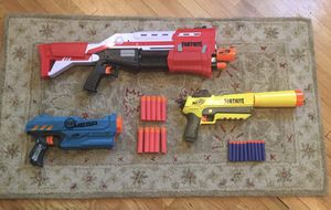 Nerf Gun lot with Fornite Tac shotgun, Silenced pistol, and more for Sale in Los Angeles, CA