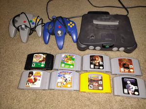 N64 with 8 games and 2 controllers for Sale in Tracy, CA
