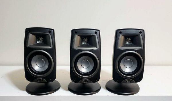 3 pce. KLIPSCH Quintet Surround/Satellite Speaker Syst.