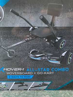 Xhover-1 all star combo hoverboard plus go-kart for Sale in Cerritos, CA