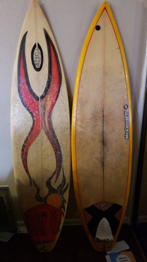 Two Surfboards that Still Work Great! Short boards at 6.2ft each. for Sale in San Diego, CA