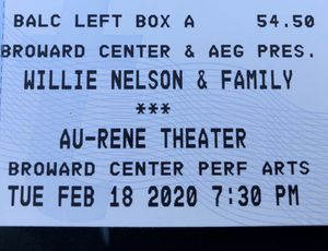 Willie Nelson tonight for Sale in Lake Worth, FL