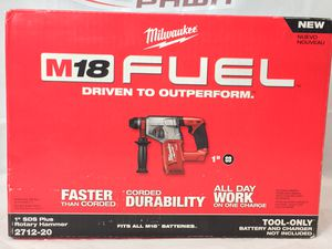 """Milwaukee M18 Fuel (2712-20) 1"""" SDS Plus Rotary Hammer - TOOL ONLY/BATTERY AND CHARGER NOT INCLUDED (MXP013047) for Sale in Lakeland, FL"""