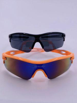 Men's Half Jacket Shield Sports Baseball Fishing Generic Sunglasses Oil Neon Lens Black & Orange Frame 2 PAIRS * NEW* for Sale in Marysville, WA