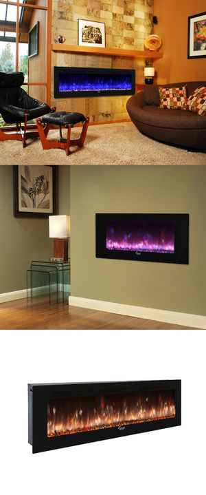 Caesar Luxury Linear Wall Mount Recess Freestanding Multicolor Flame Electric Fireplace, 30-Inch to 102-Inch for Sale in Los Angeles, CA