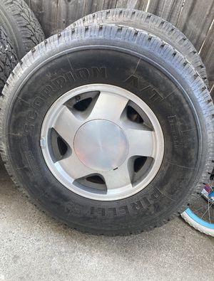 "16"" Chevy Tahoe Silverado suburban rims tires wheels GMC Sierra Yukon for Sale in Rancho Cordova, CA"
