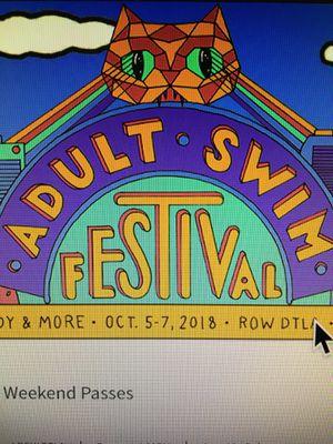 Adult Swim Festival Weekend Pass for Sale in San Luis Obispo, CA