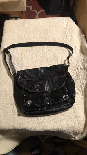 100% leather & canvas Fossil brand crossbody purse for Sale in Tacoma, WA