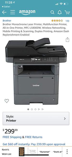 Brother Monochrome Laser Printer, Multifunction Printer, All-in-One Printer, MFC-L5800DW, Wireless Networking, Mobile Printing & Scanning, Duplex Pri for Sale in Orlando, FL