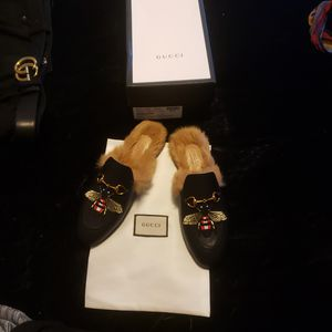 Gucci Princetown Fur slides for Sale in Raleigh, NC