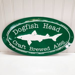 Dogfish Head Craft Brewed Ales Tin Tacker Sign Man Cave 14X8 Craft Beer Brewery for Sale in Roseville, CA