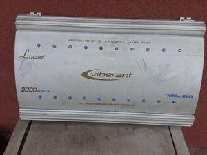 AMPLIFICADOR AMPLIFIER LANZAR 2 CHANELS 2000 WATTS GOOD CONDICIÓN ABLO ESPAÑOL for Sale in Stockton, CA