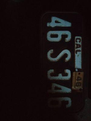 Vintage 1945/46 CALIFORNIA lic plate for Sale in Santa Maria, CA