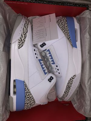 DEADSTOCK SIZE 9.5 AIR JORDAN 3 RETRO UNC for Sale in Fresno, CA