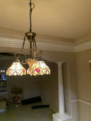 Glass painted chandelier for Sale in Houston, TX
