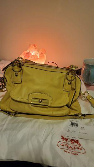 Coach yellow leather double zip satchel (kristin) for Sale in Glen Burnie, MD