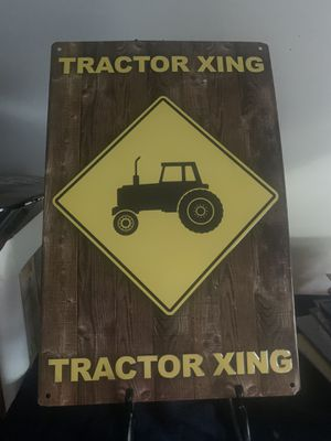 Tractor aXING Tin Sign for Sale in Lakeland, FL