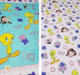 RARE Vintage 1996 Looney Tunes Tweety Bird Bed Comforter Reversible Twin for Sale in Queens,  NY