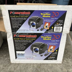 Powerwinch 12 volt Trailer Mate 20 electric boat winch P60900 for Sale in Stanwood, WA