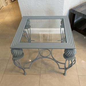 Indoor Outdoor Patio Metal Side End Coffee Table for Sale in Miami, FL