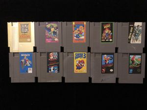 Nintendo NES Games Lot of 10(Zelda BattleToads Paperboy Mario Bros Bond Jr+more for Sale in Atlanta, GA