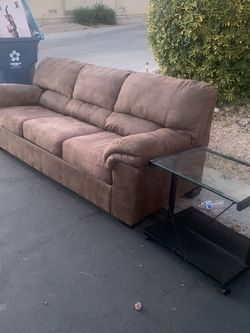 Free On Curb- Couch And Small Desk for Sale in Henderson,  NV