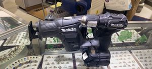 Makita 3pc set, drill/reciprocating saw/impact drill. With 2 batteries and charger for Sale in Hope Mills, NC