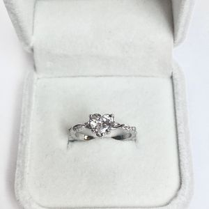 NEW! 1.25CT White Sapphire Heart Cut, Sterling Silver S925 Promise Ring, Please See Details for Sale in Redlands, CA