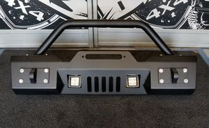 Jeep Wrangler TJ Front Stubby Bumper w. Detachable Hoop & LED Lights for Sale in Montclair, CA