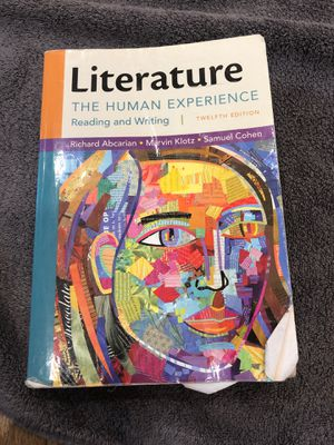 Literature: The human experience 12th edition for Sale in Winsted, CT