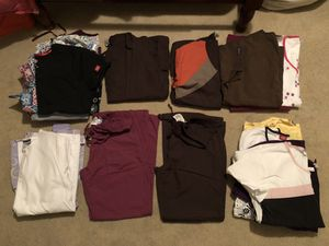 18 Scrubs Tops and 2 Scrub Pants, Sizes S, M, Like New! for Sale in Somerset, PA