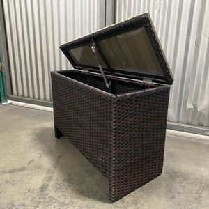 Dark Wicker Storage Coffee Table Patio -1 Pc Assembled for Sale in Ontario, CA